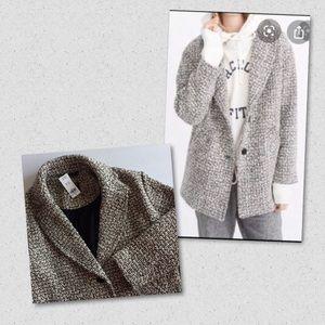 A&F Oversized Wool Blend Coat